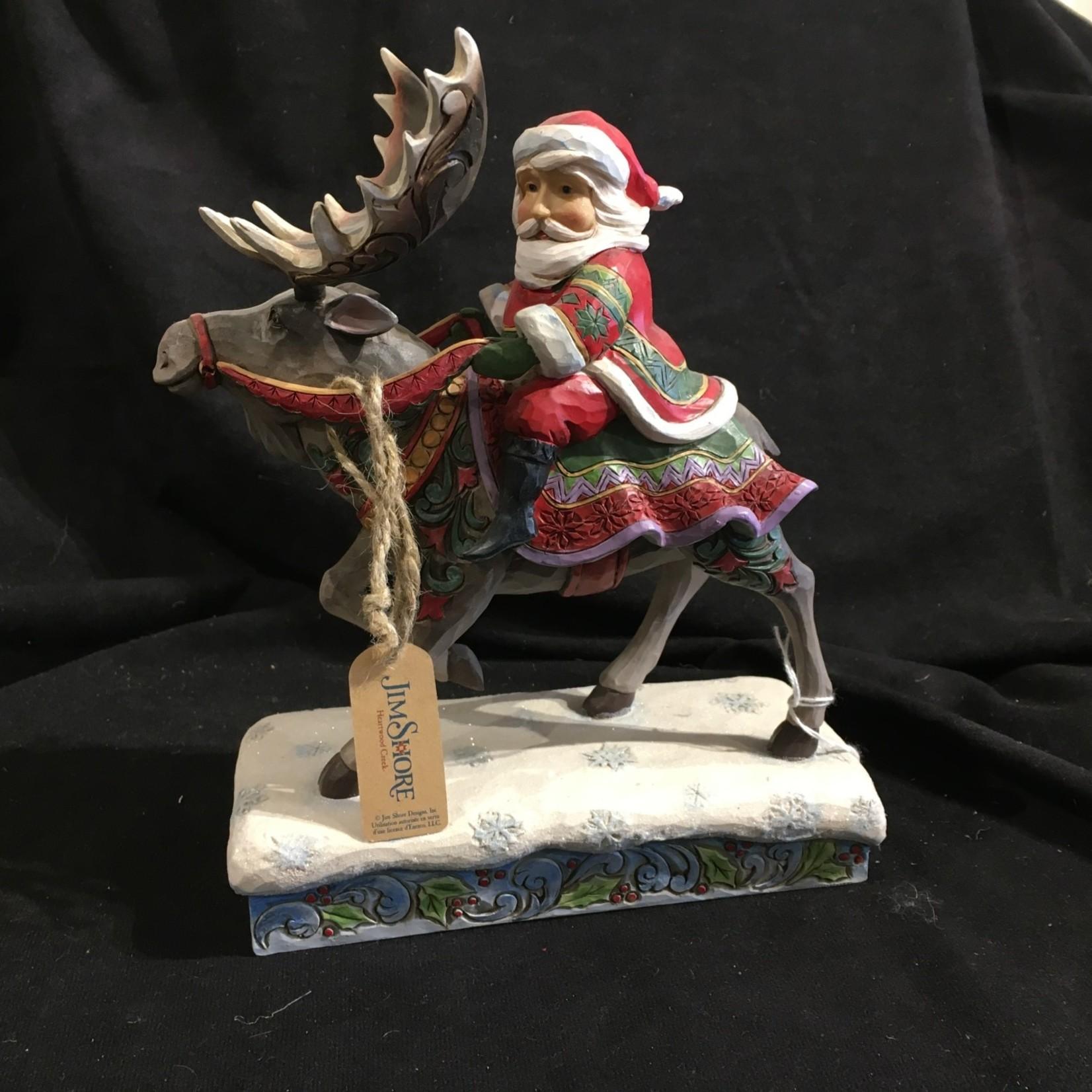 Jim Shore - Santa Riding Moose
