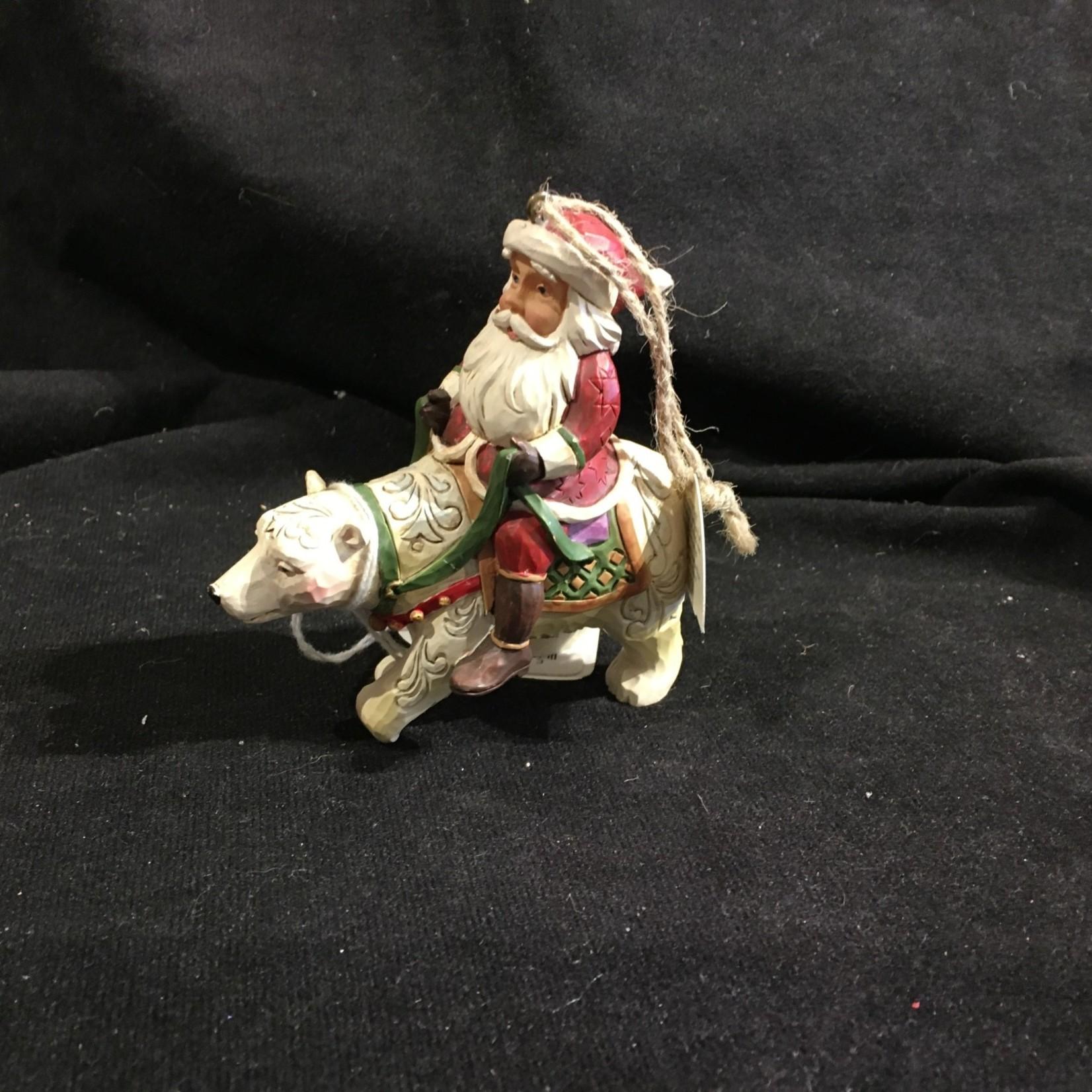 Jim Shore - Santa on Polar Bear Orn