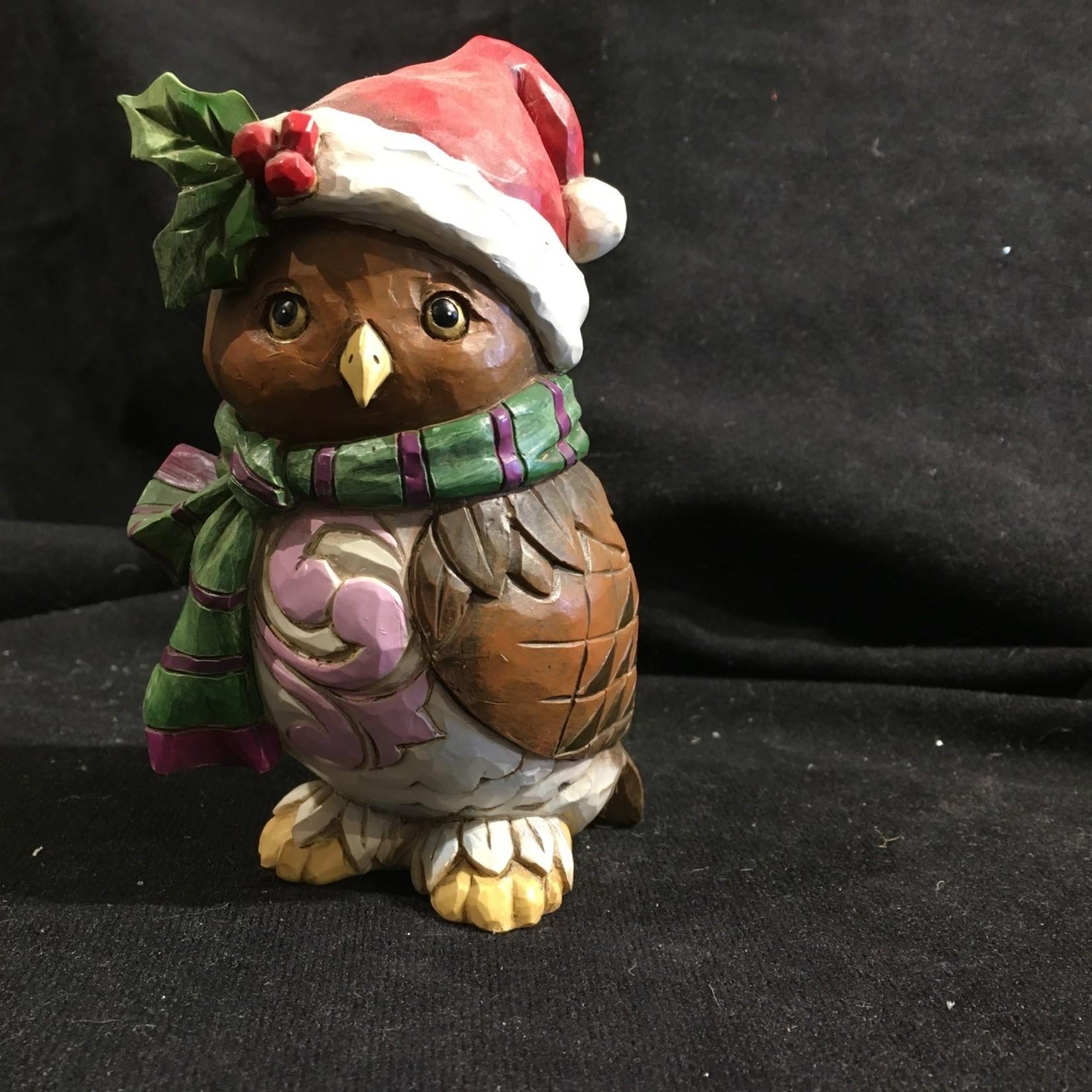 "Jim Shore - 5"" Christmas Owl"
