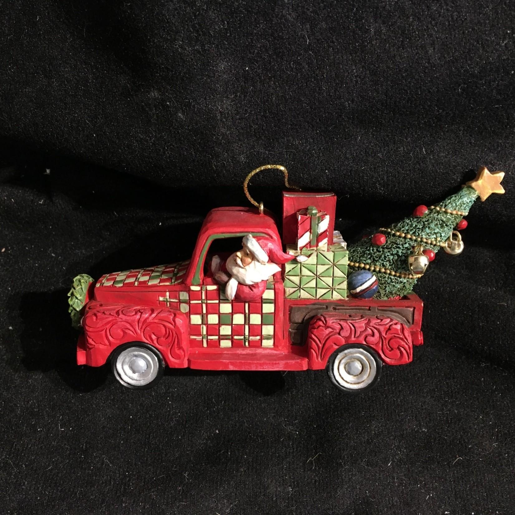 Jim Shore - Santa in Truck Ornament