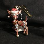 Jim Shore - Rudoph in Santa Hat Ornament