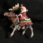 Jim Shore - Santa Riding Moose Orn