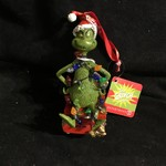 LED Grinch Wrapped in  Lights Orn (no box)