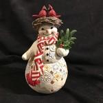 "Jim Shore - 9"" Snowman w/Cardinal Nest"