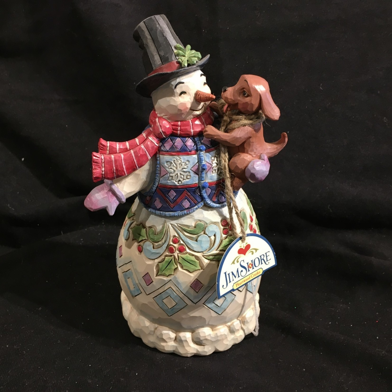"Jim Shore - 8"" Snowman w/Friend"
