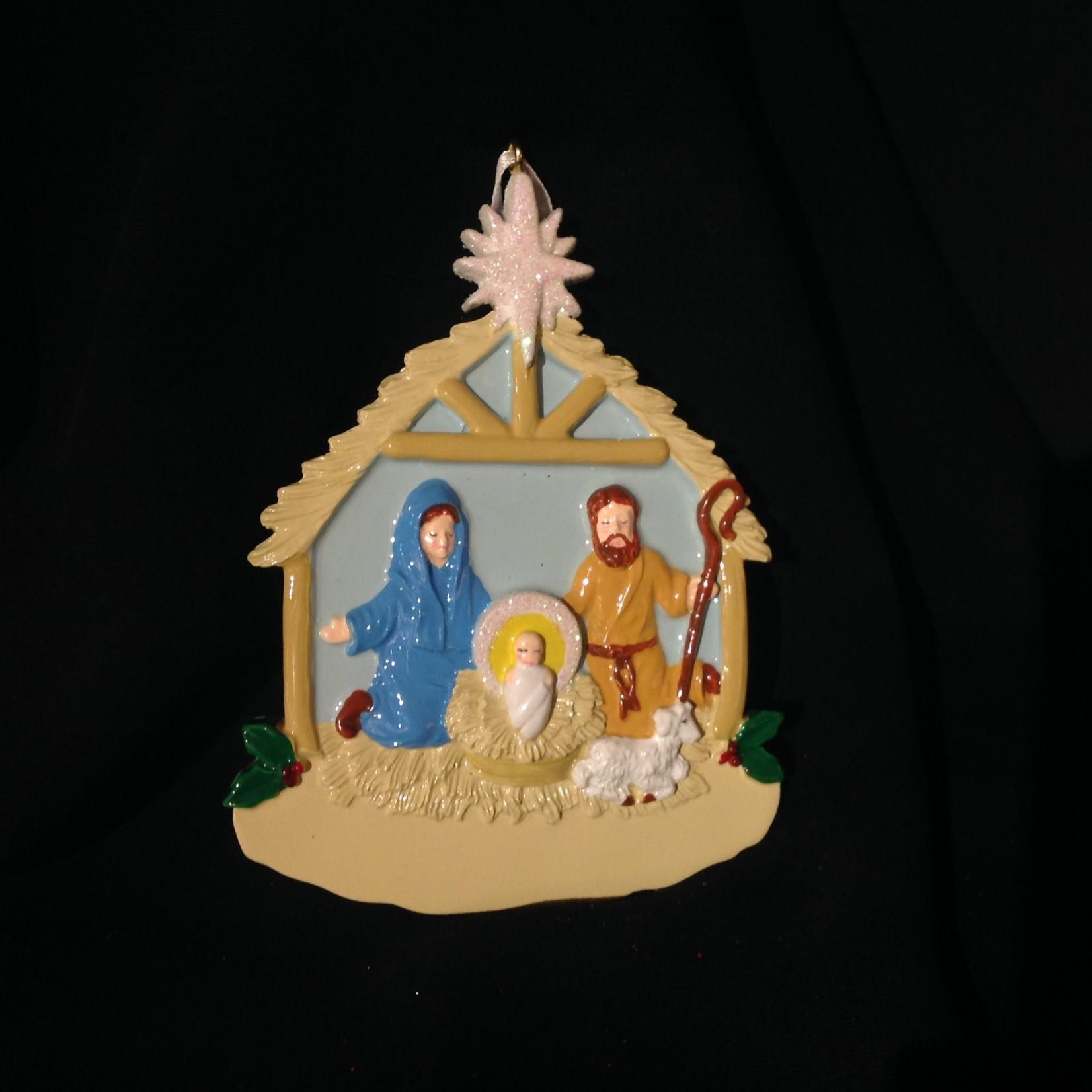 **Nativity Ornament w/Shiny Star