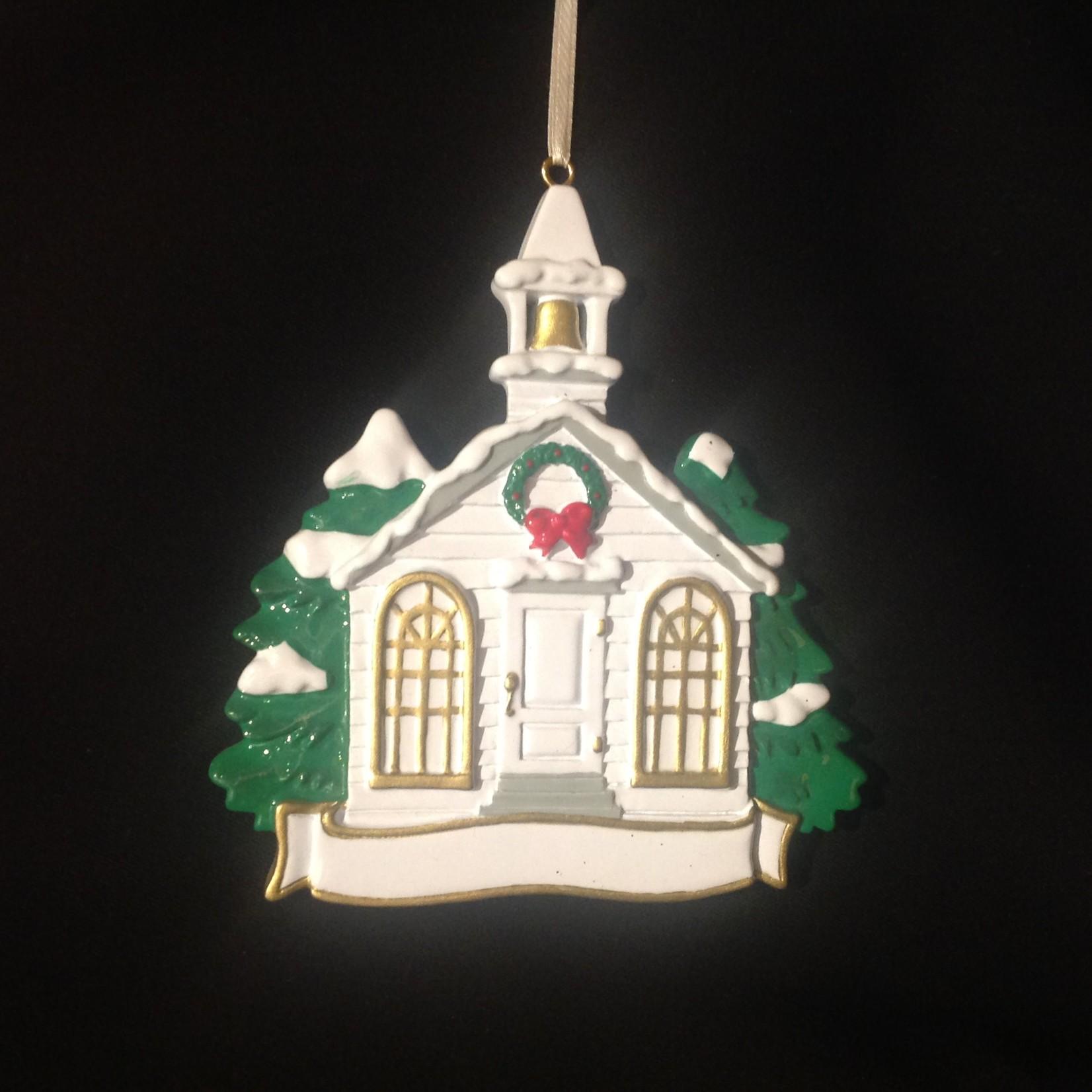 Church w/Holly Wreath