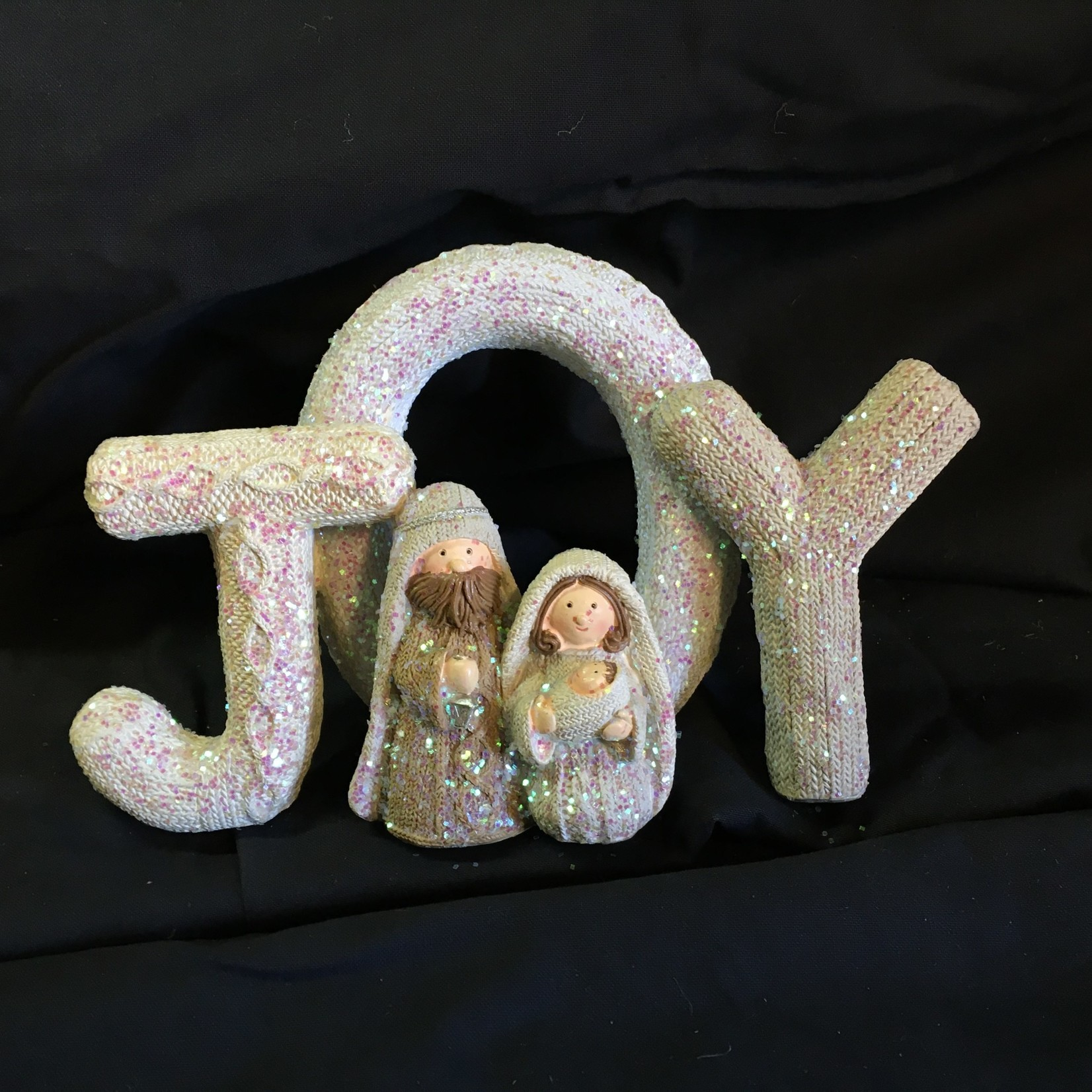 "8x6"" Knit Look Joy w/Holy Family"