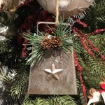 **Metal Cowbell w/Star Ornament
