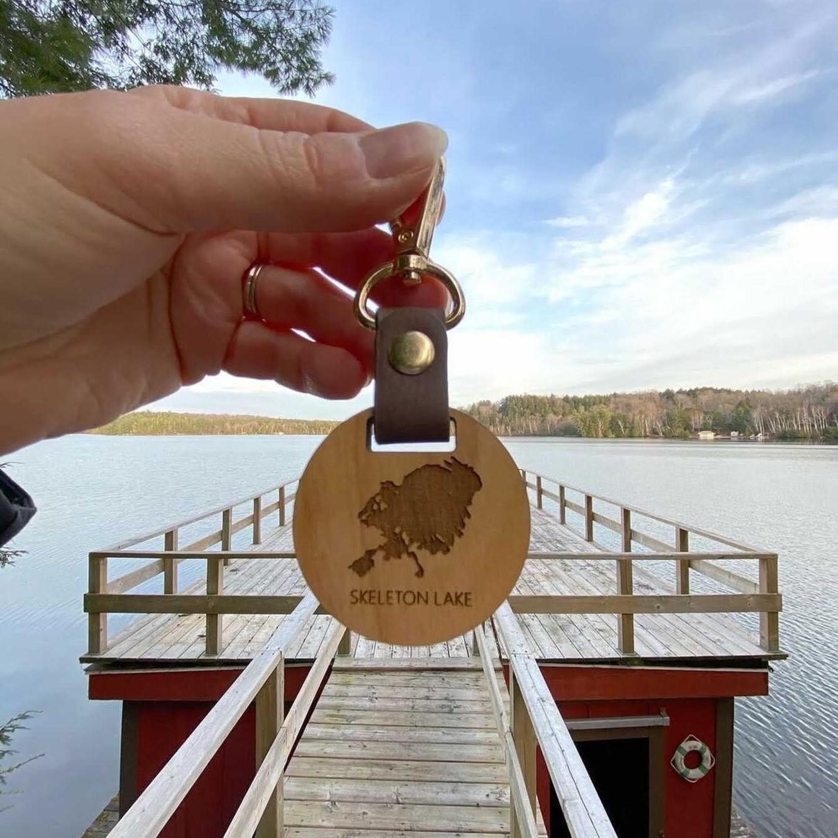 Wood Circle Keychain