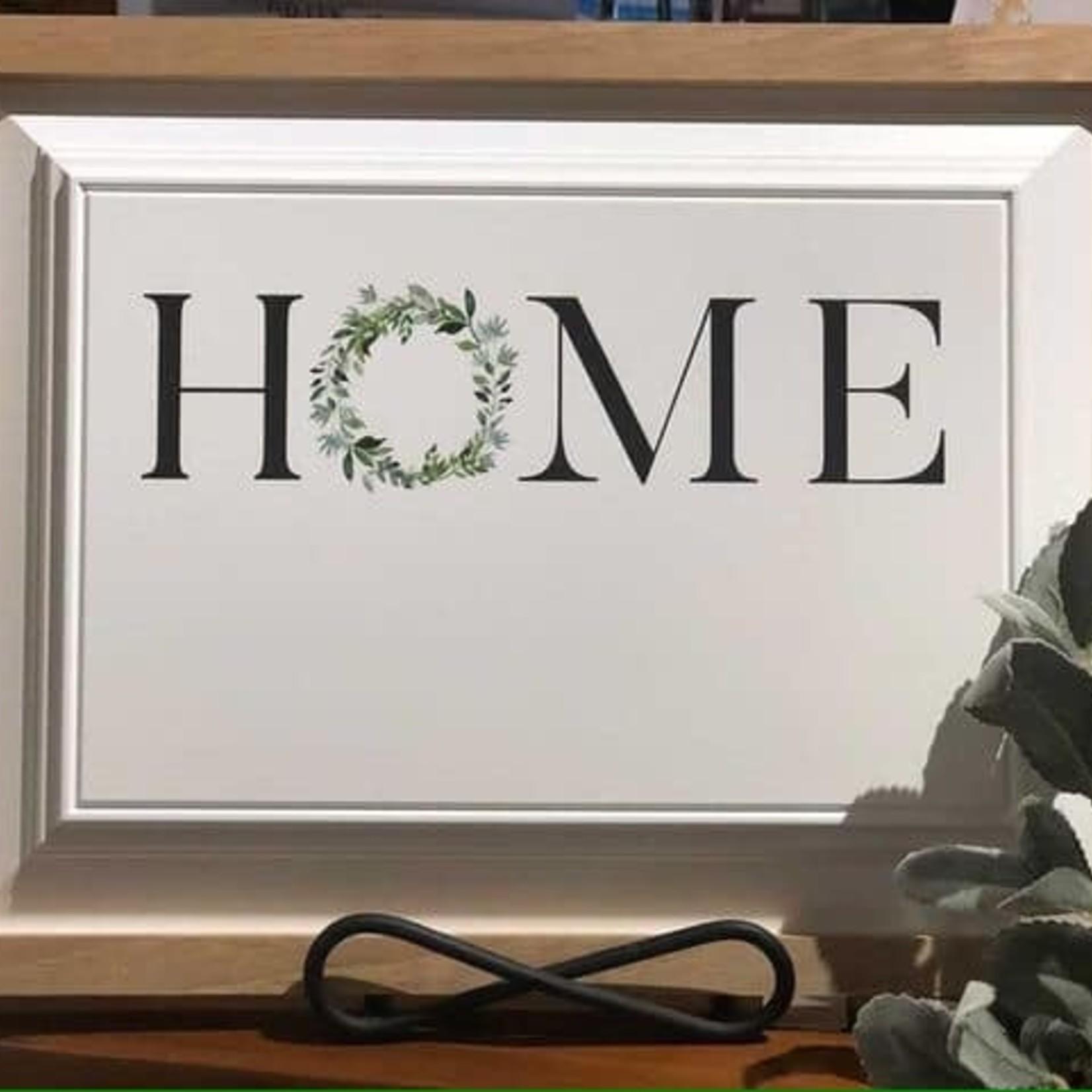 "Framed Home Sign 16.5x12.5"""