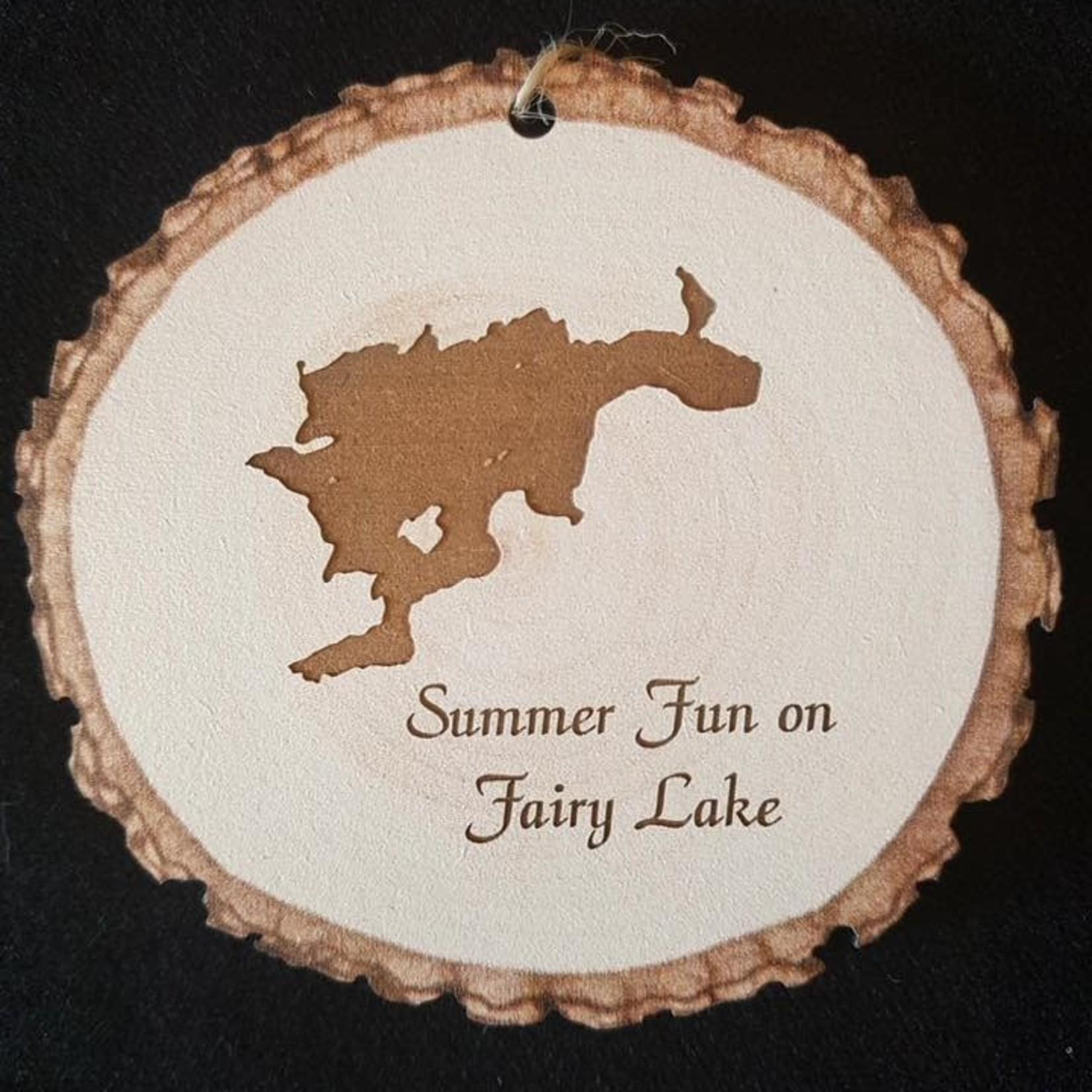 Engravable Light Barky Ornament