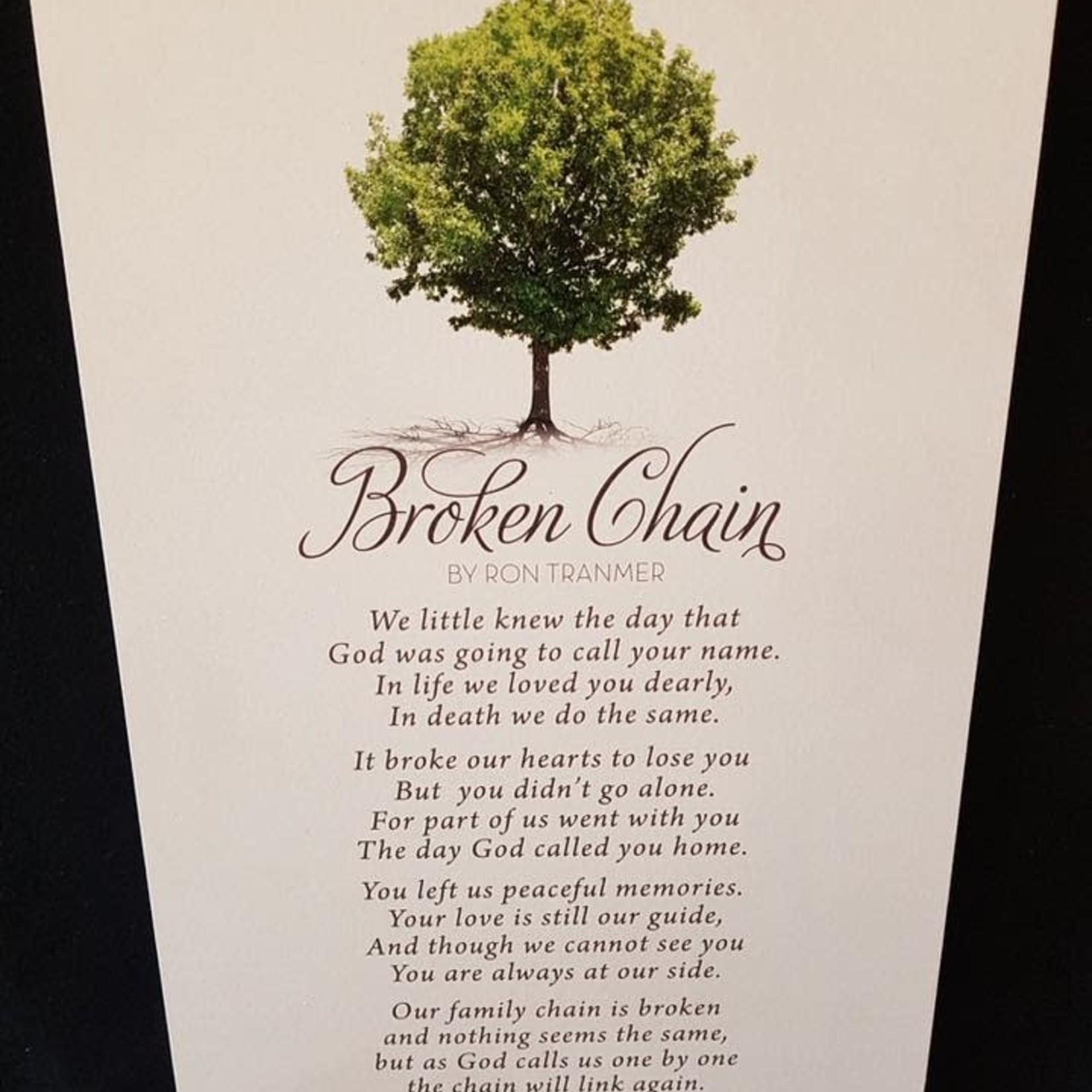 "Broken Chain Sign 10.5x17"""