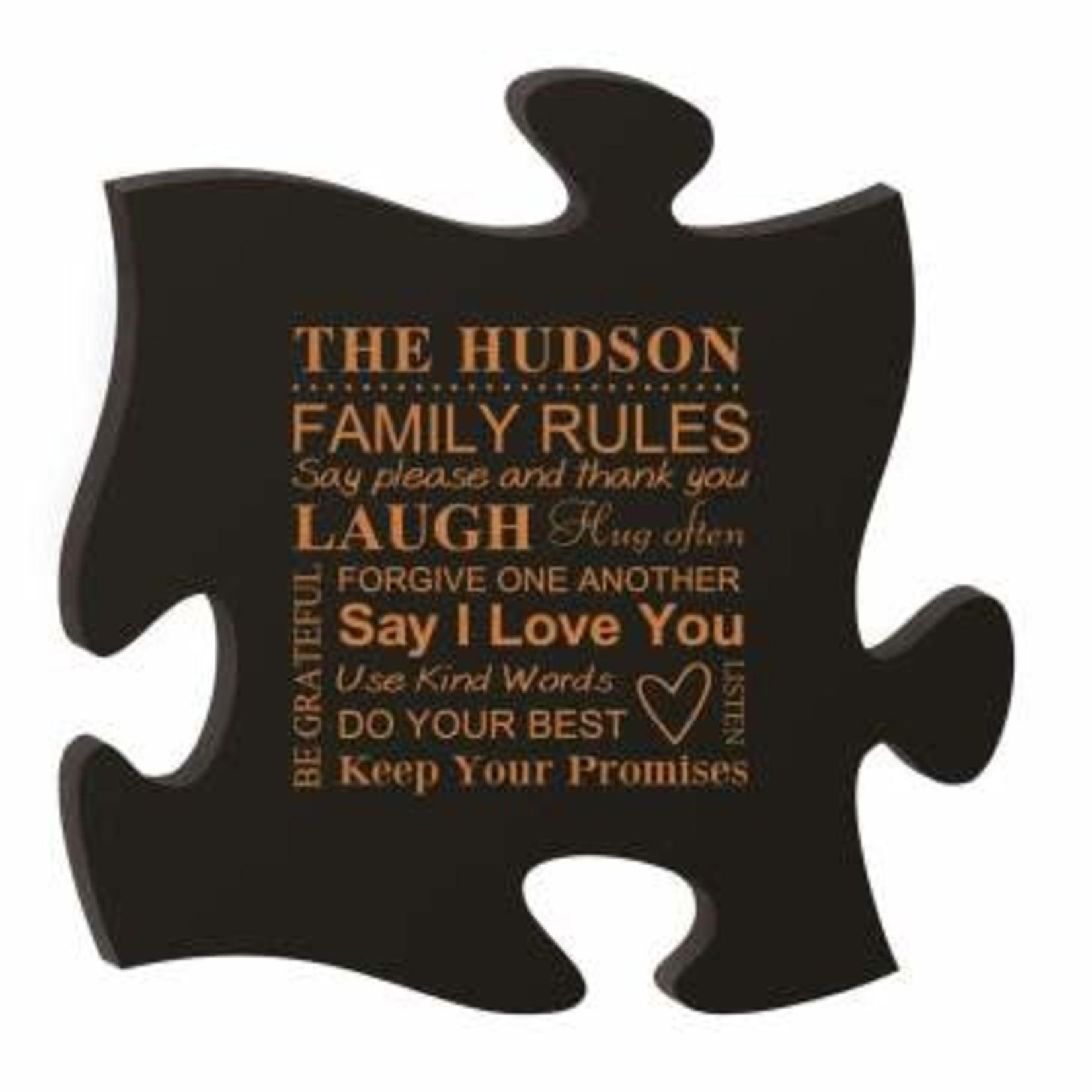 Puzzle Plaque - Black (No Photo)