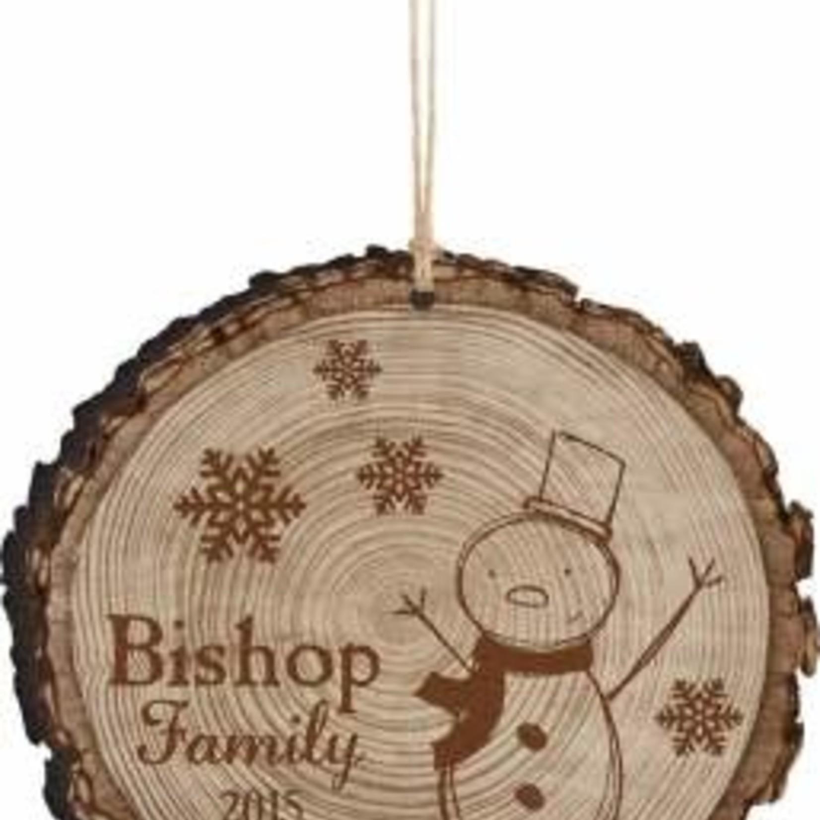 Engravable Barky Ornament
