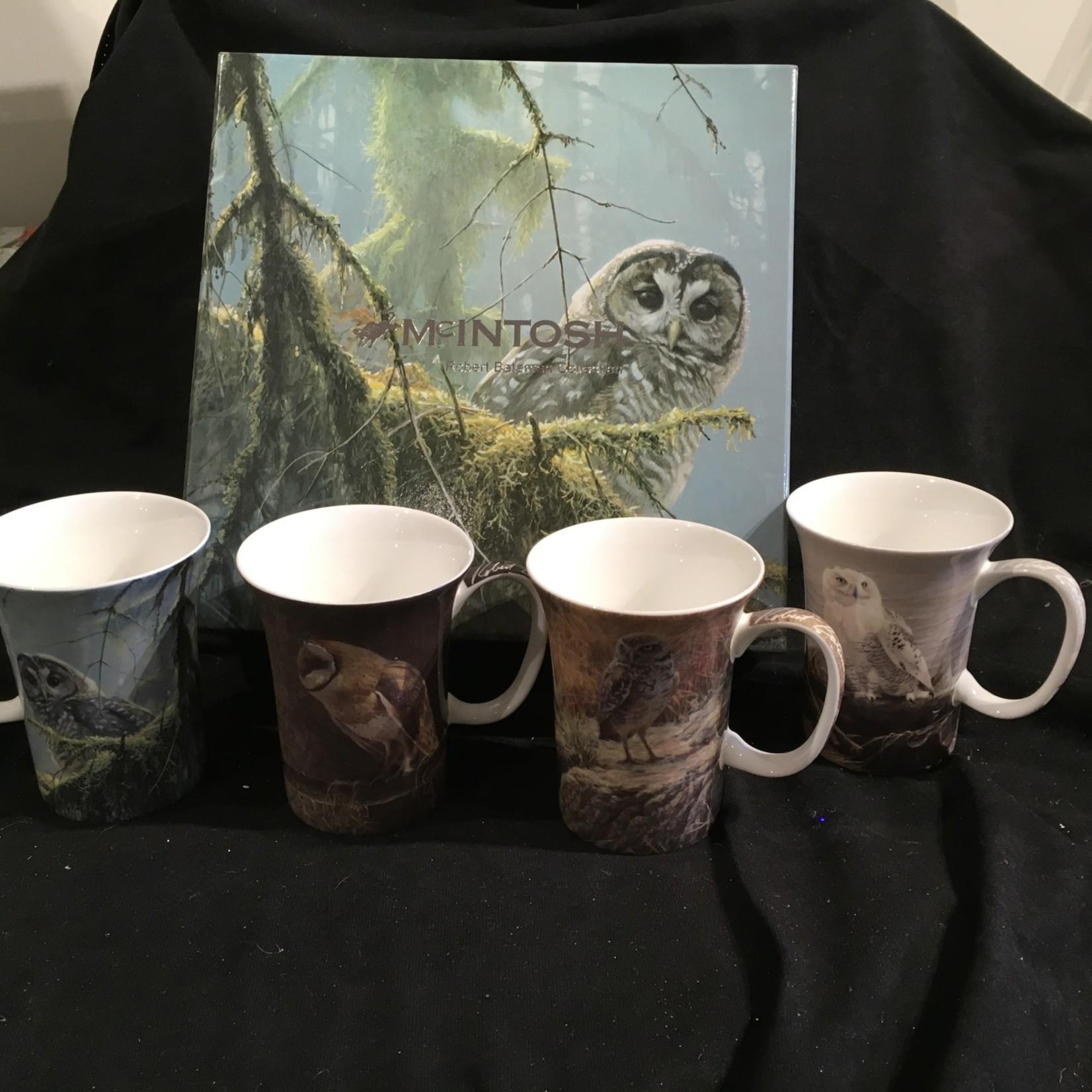 Bateman Owl Mugs (Set of 4)