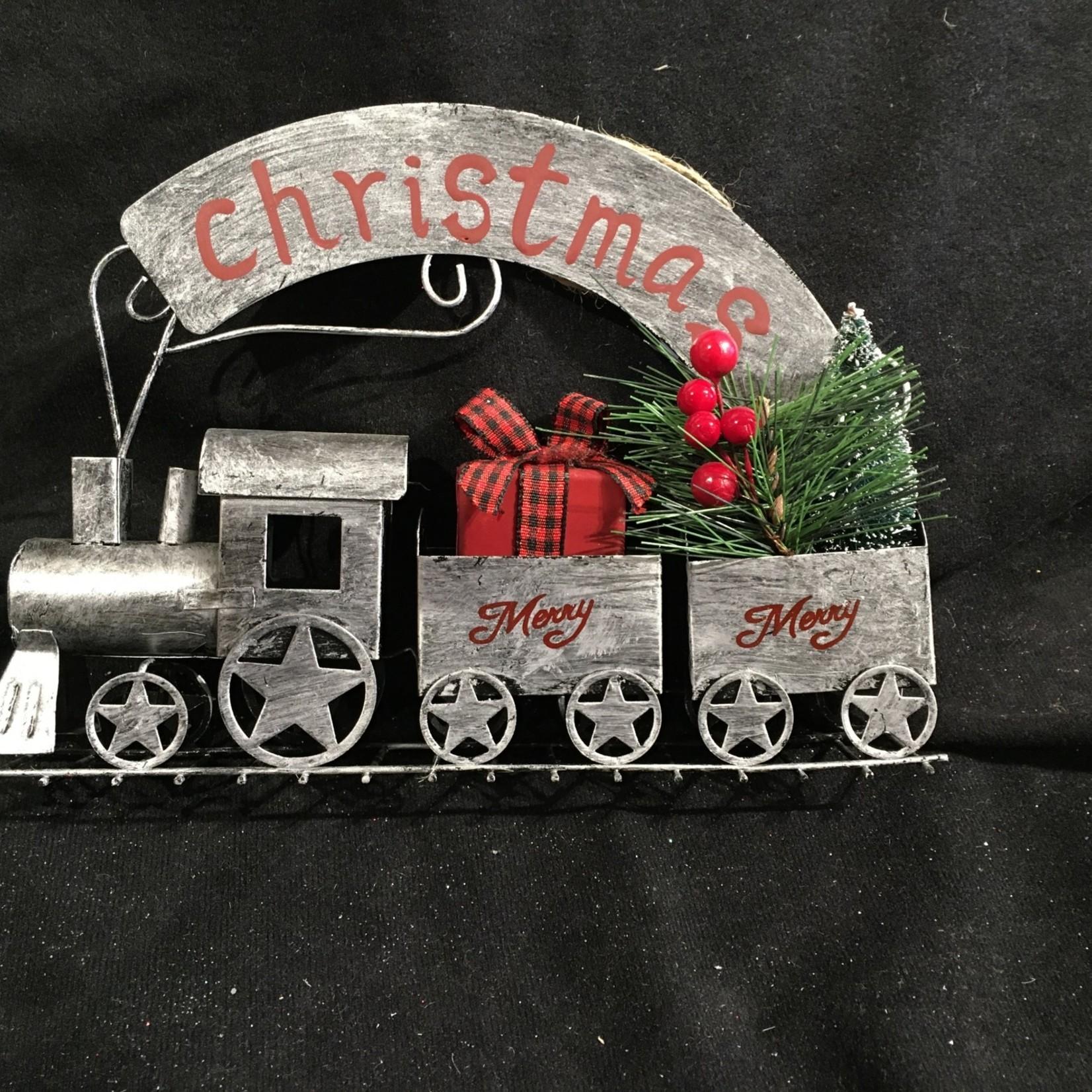 """8"""" Metal Christmas Train"""