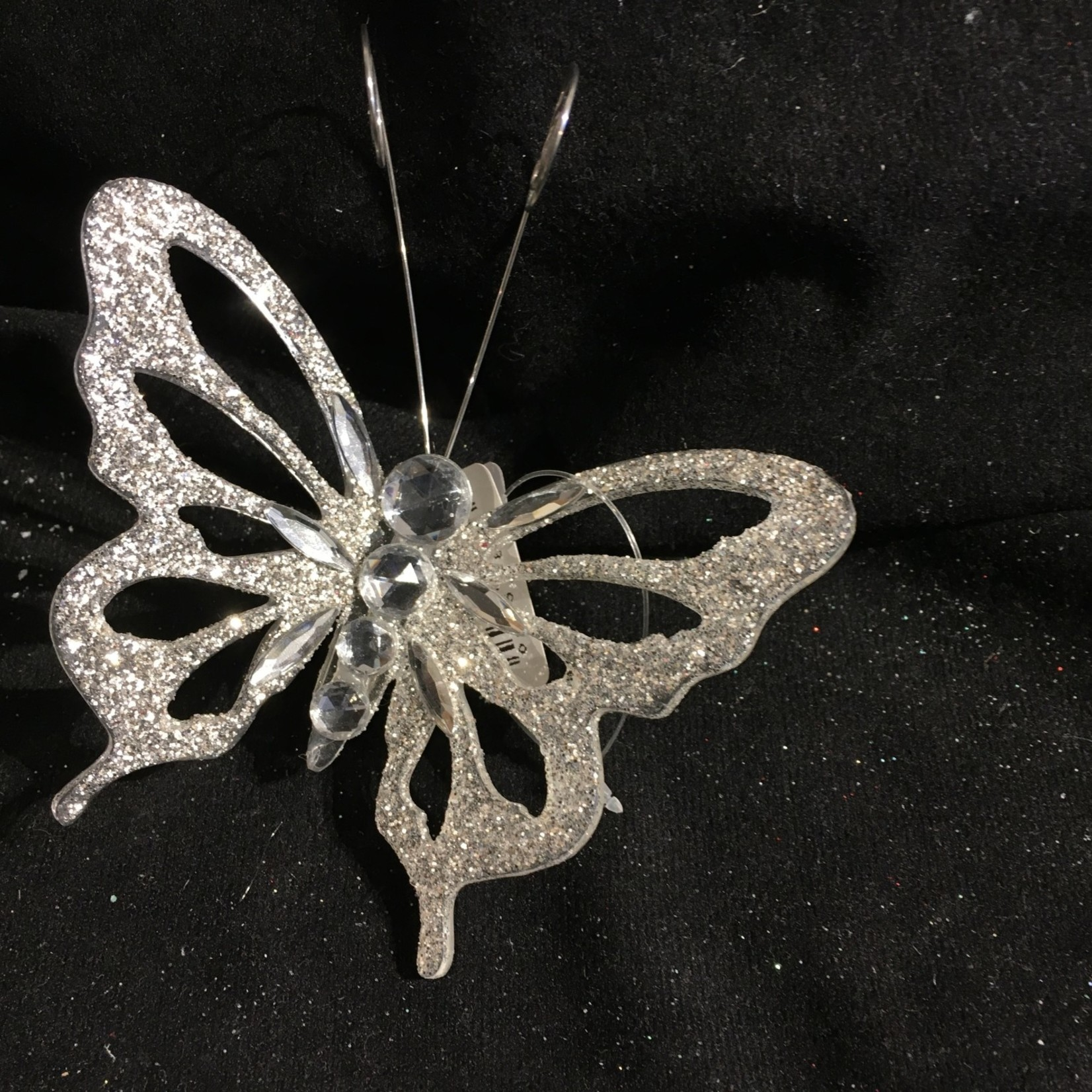 **Clip-on Silver Butterfly