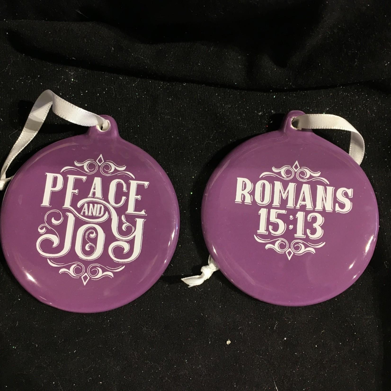 Porcelain Round - Peace & Joy