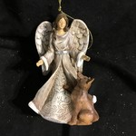 "5"" Folk Art Angel Ornament 3A"