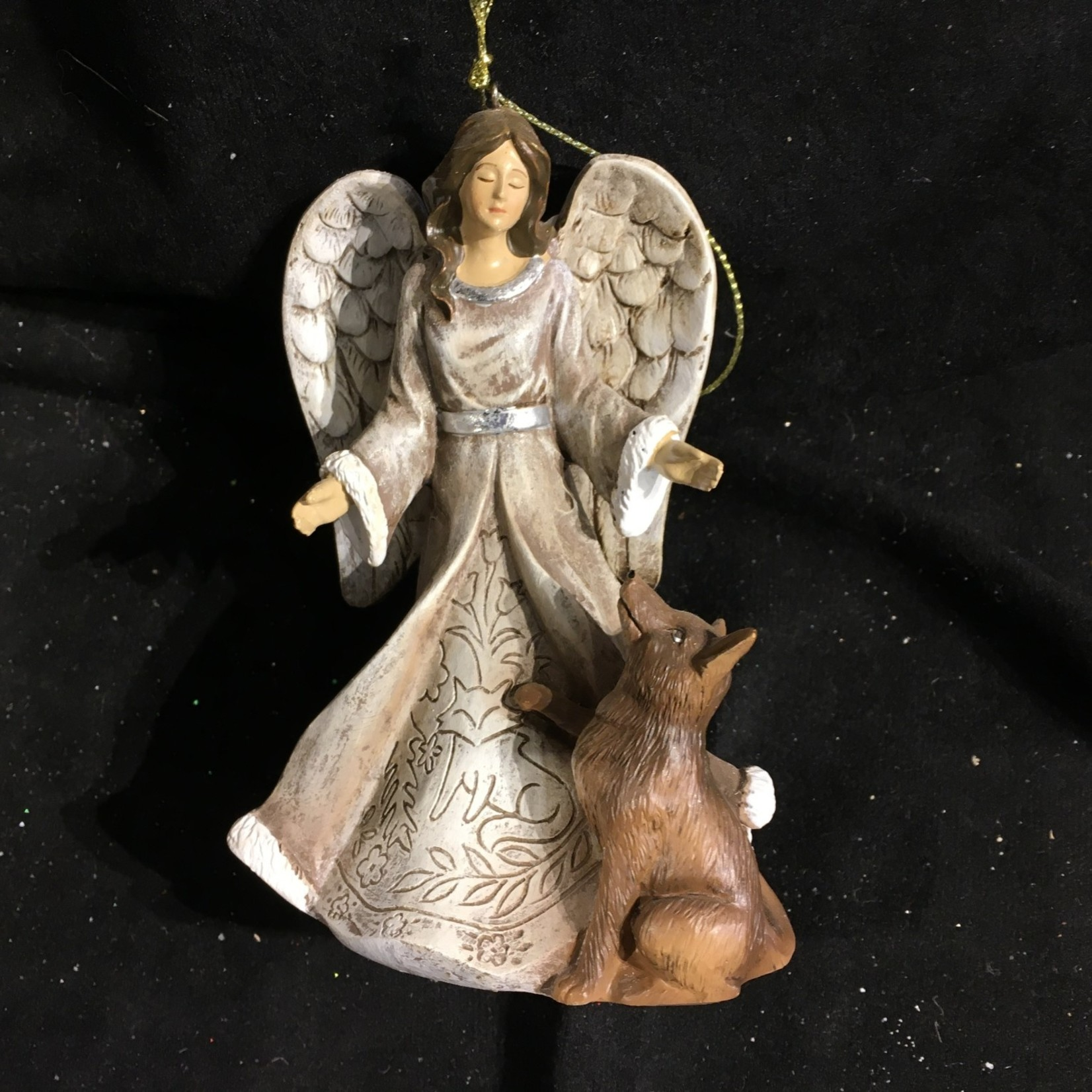 "5"" Folk Art Angel Ornament 3A"