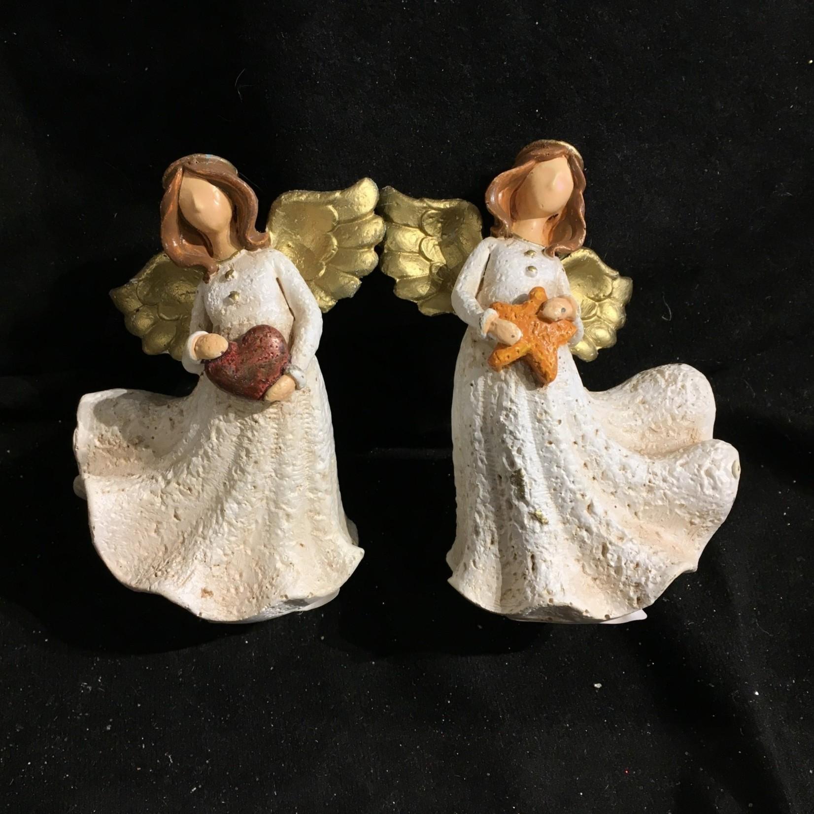 "**4"" Angel w/Heart or Star  Figurine 2A"