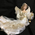 12' Ivory/Gold Flying Angel