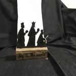 "Three Wise Men Silhouette (no box) 6x7.5"""