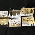 **Winter Wood Christmas Sign 6A