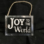 "**5.75x4"" Chalkboard Joy To The World Plaque"