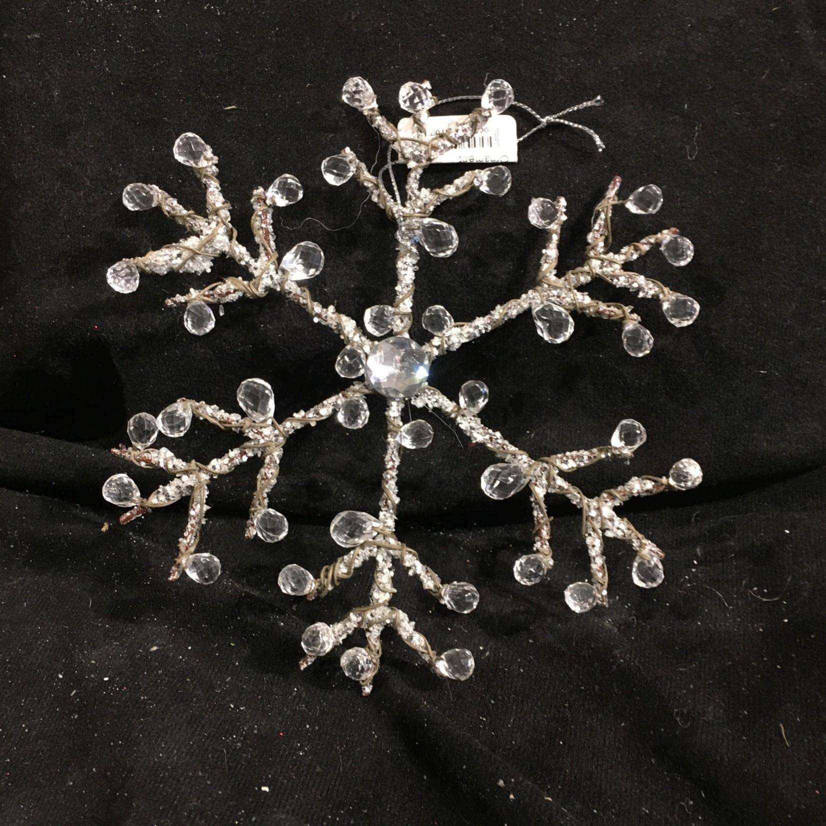 "**6"" Jewelled Snowflake Ornament"