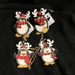 """**2.5"""" MDF Penguin Ornament 4A"""