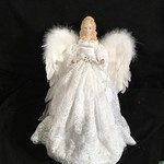 """16"""" White Angel w/Feather Wings"""