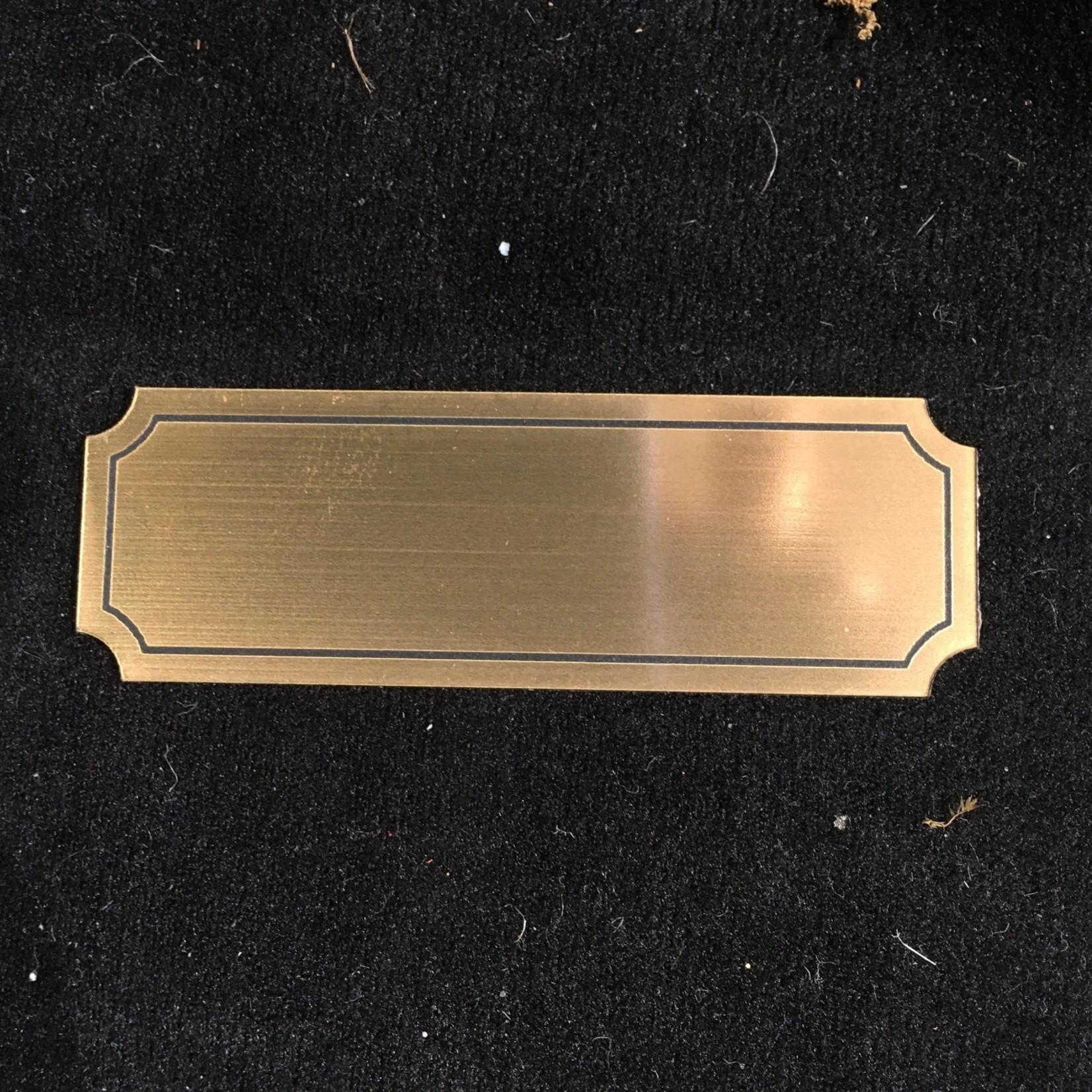 """3x1"""" Brass Look Plate"""