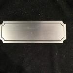 """Silver Name Plaque  4.5"""" x 1.5"""""""