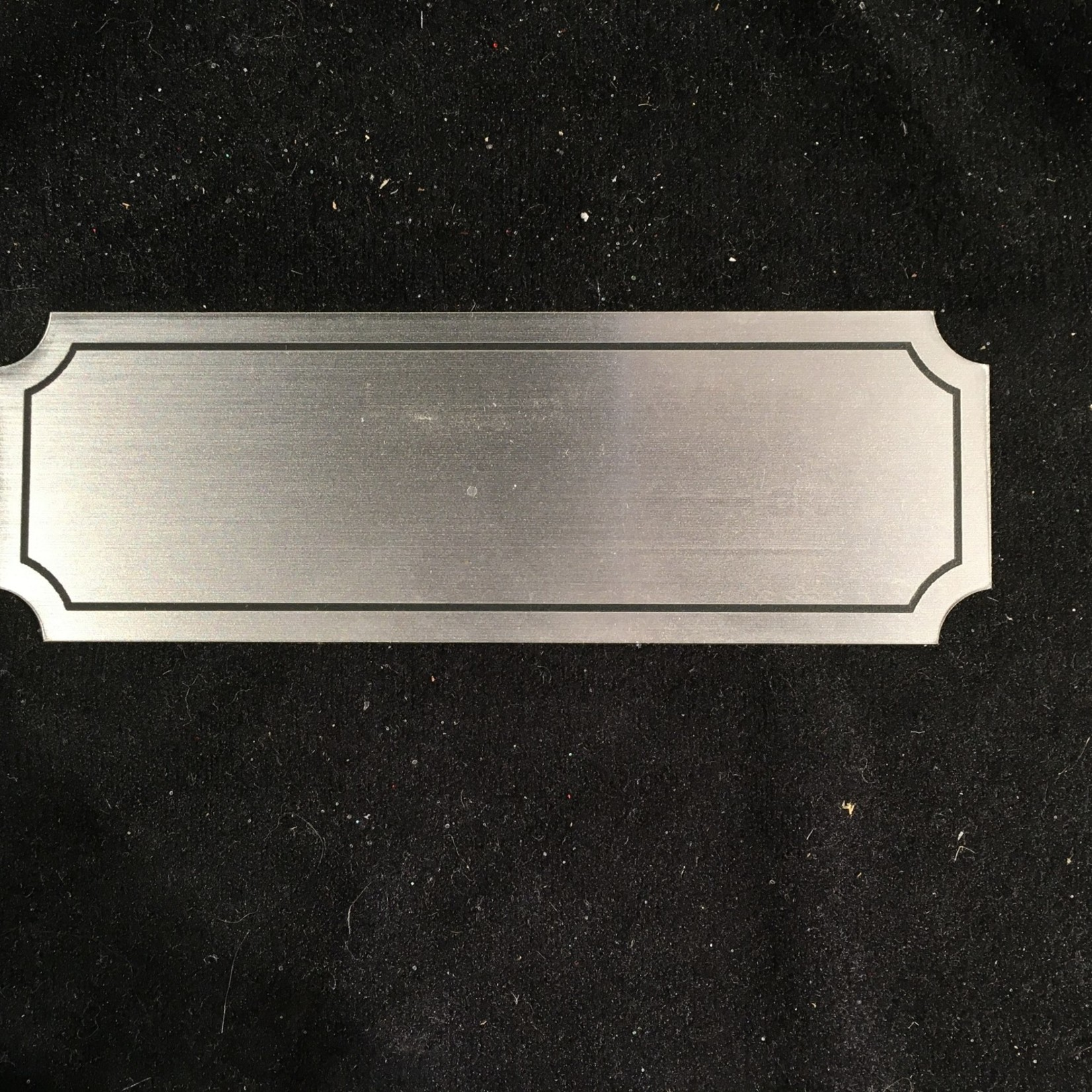 """Silver Name Plate 4.5"""" x 1.5"""""""