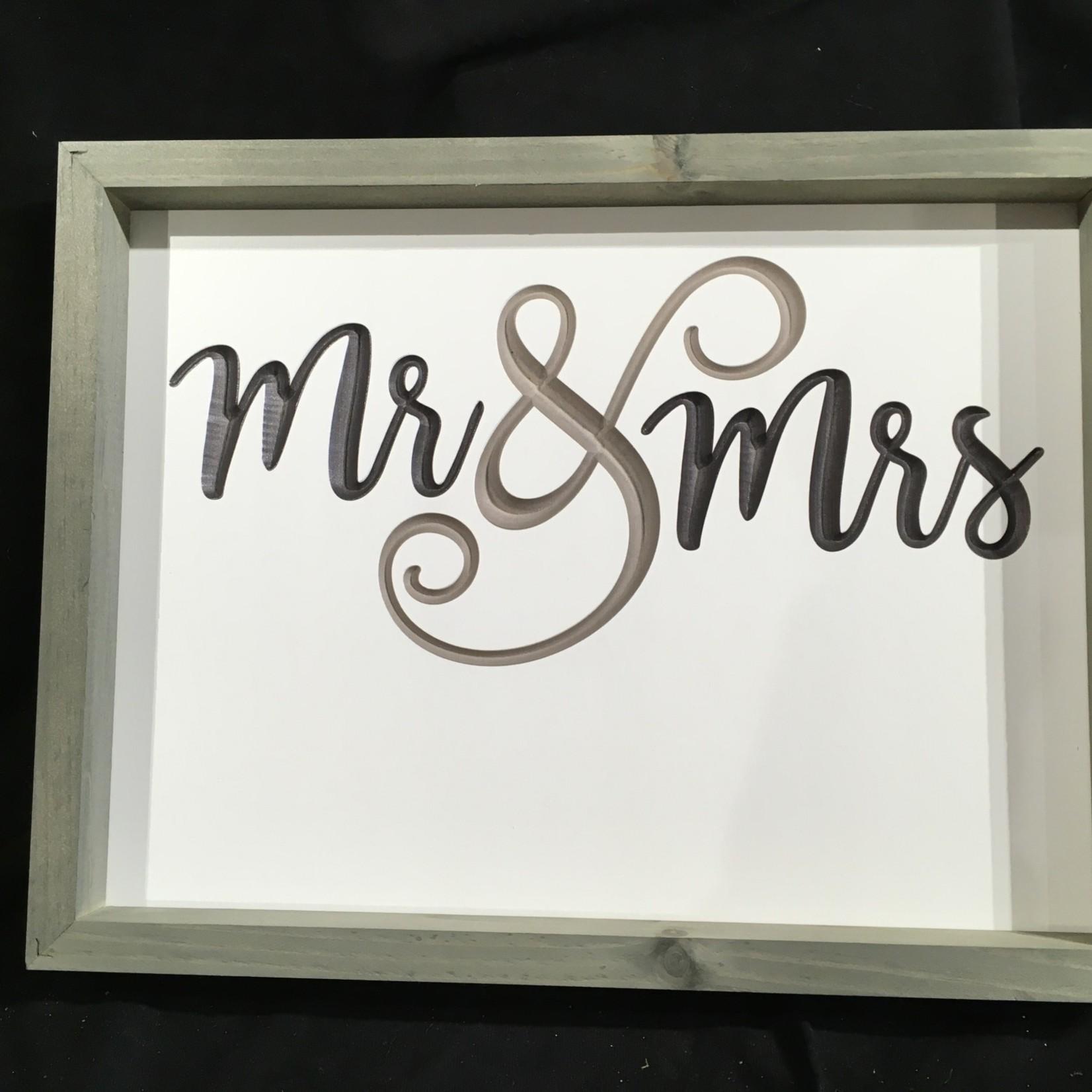 """Framed Mr & Mrs 17x13"""""""