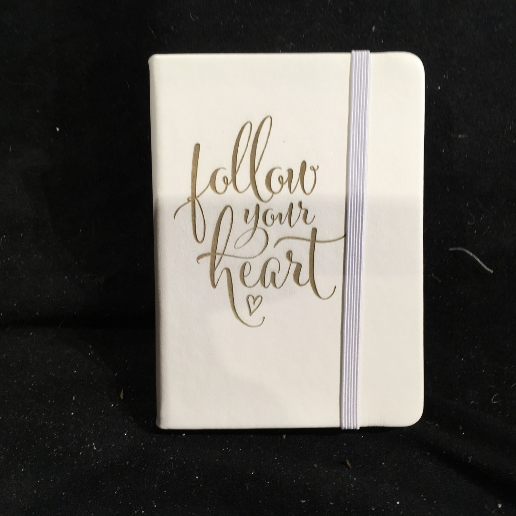 """White Leather Notebook 4.25x5.75"""""""