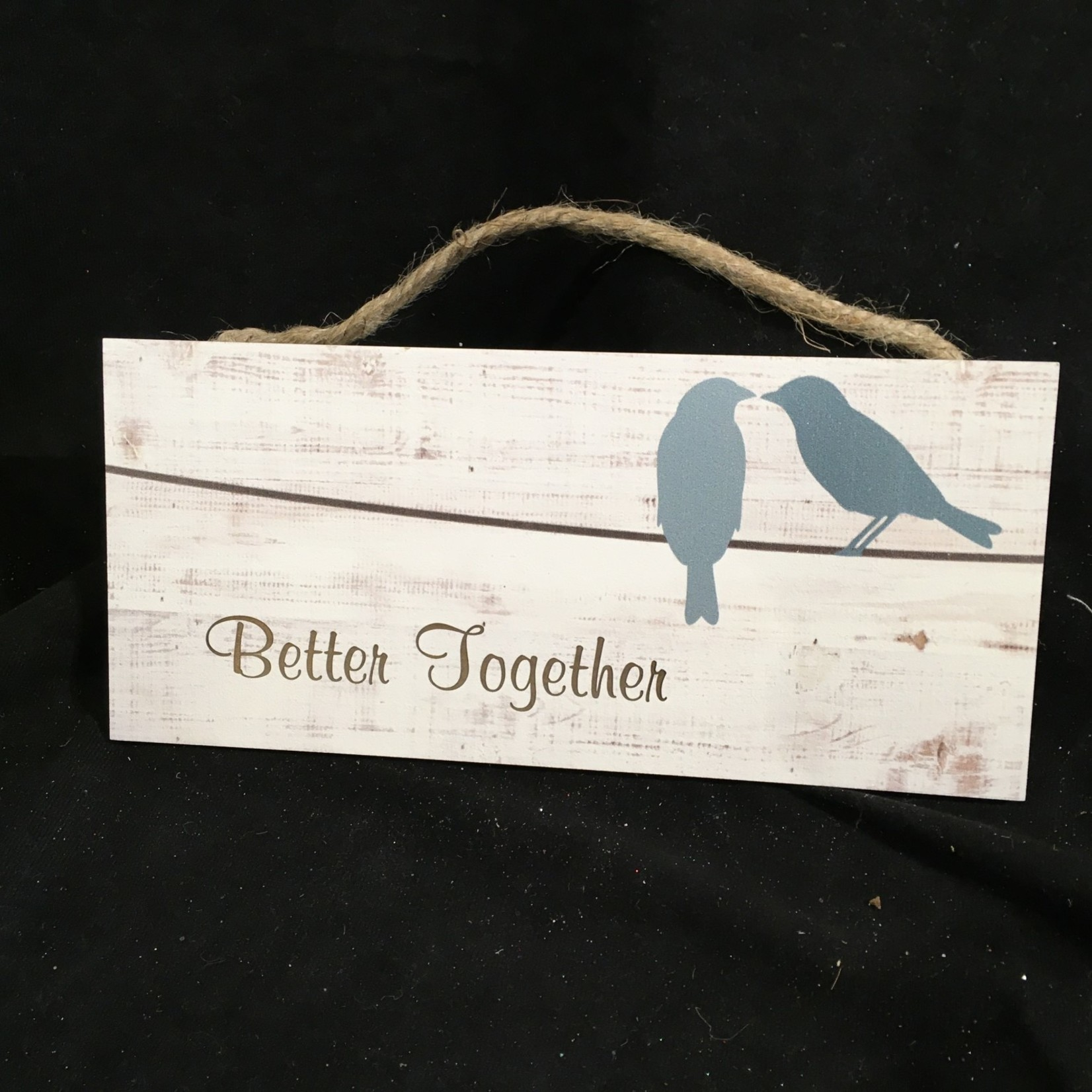 """Hanging Sign - Two Birds 10x4.5"""""""