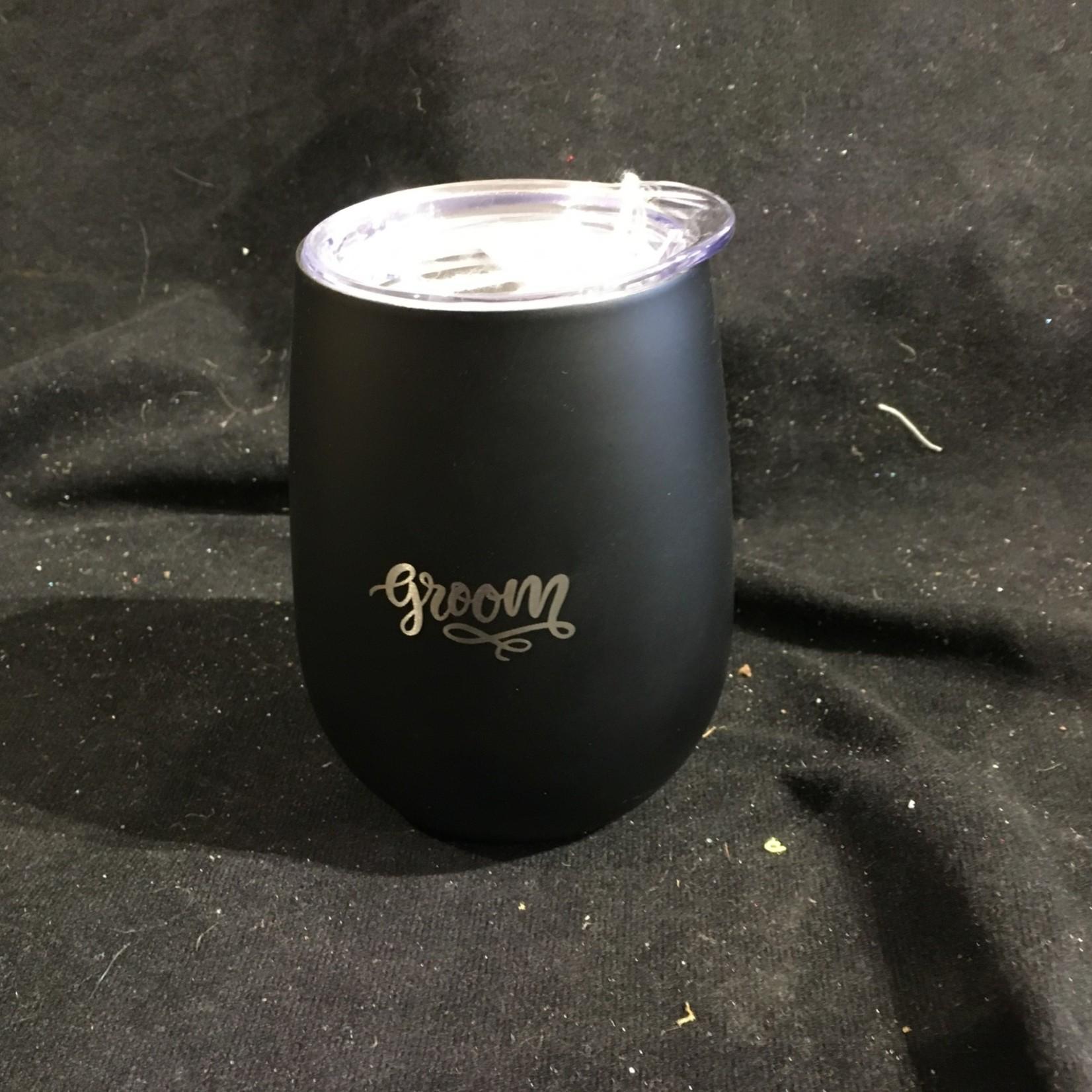 10 oz Wine Tumbler - Black