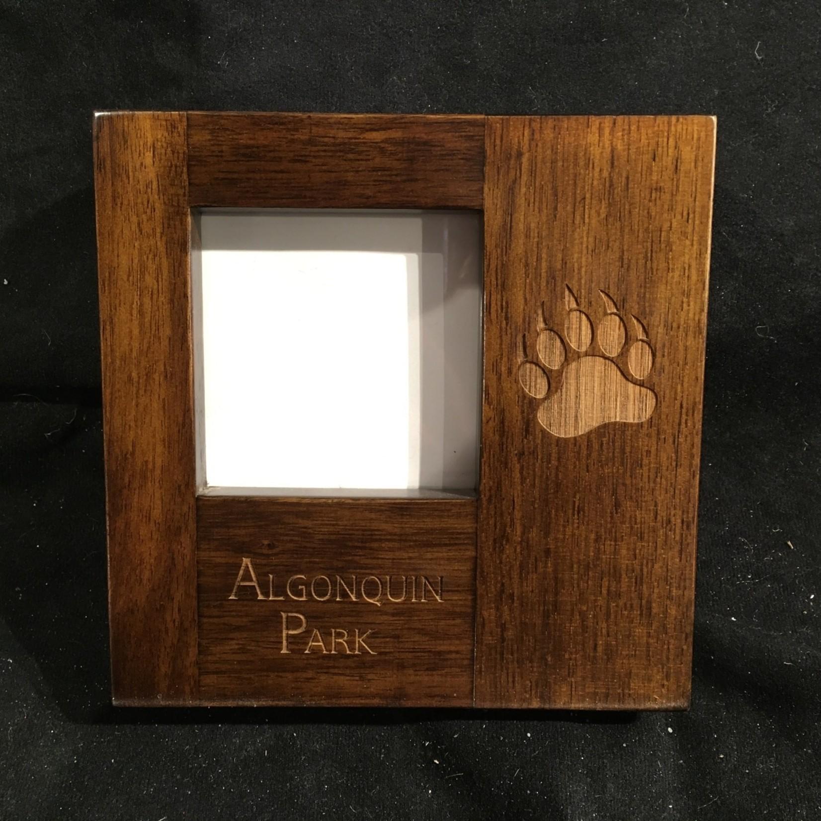 "Dark Wood Block Frame (3x3"" Photo)"