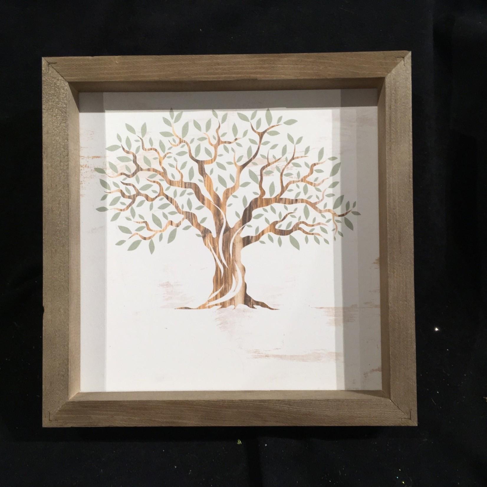 """Framed Tree Sign 11x11"""""""