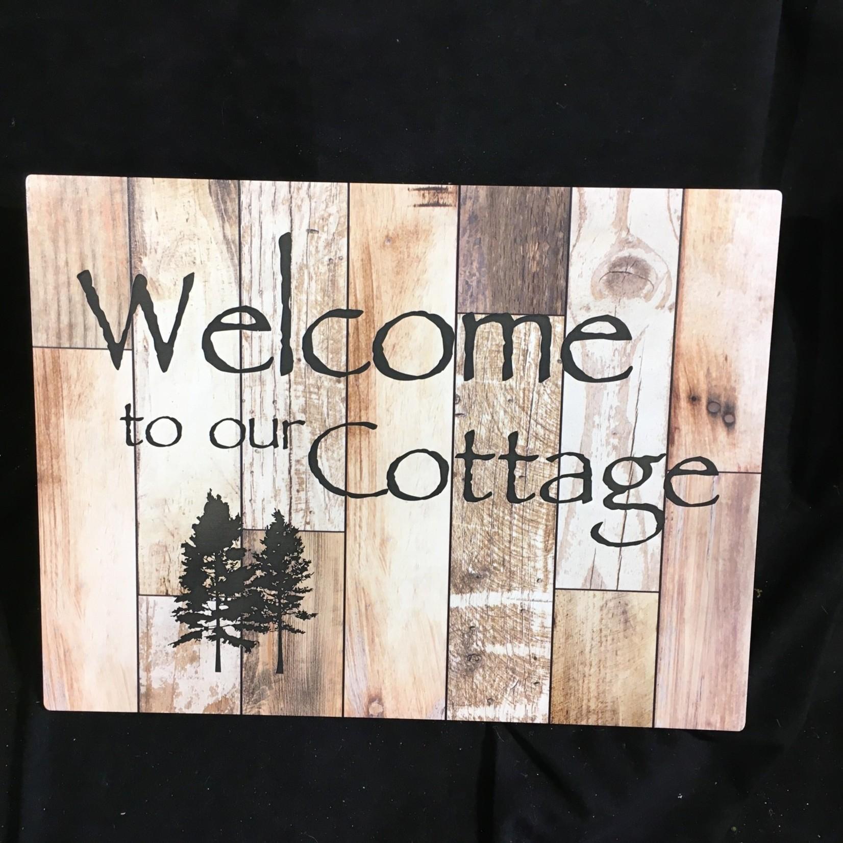 "Natural Barn Board Sign 12x16"""