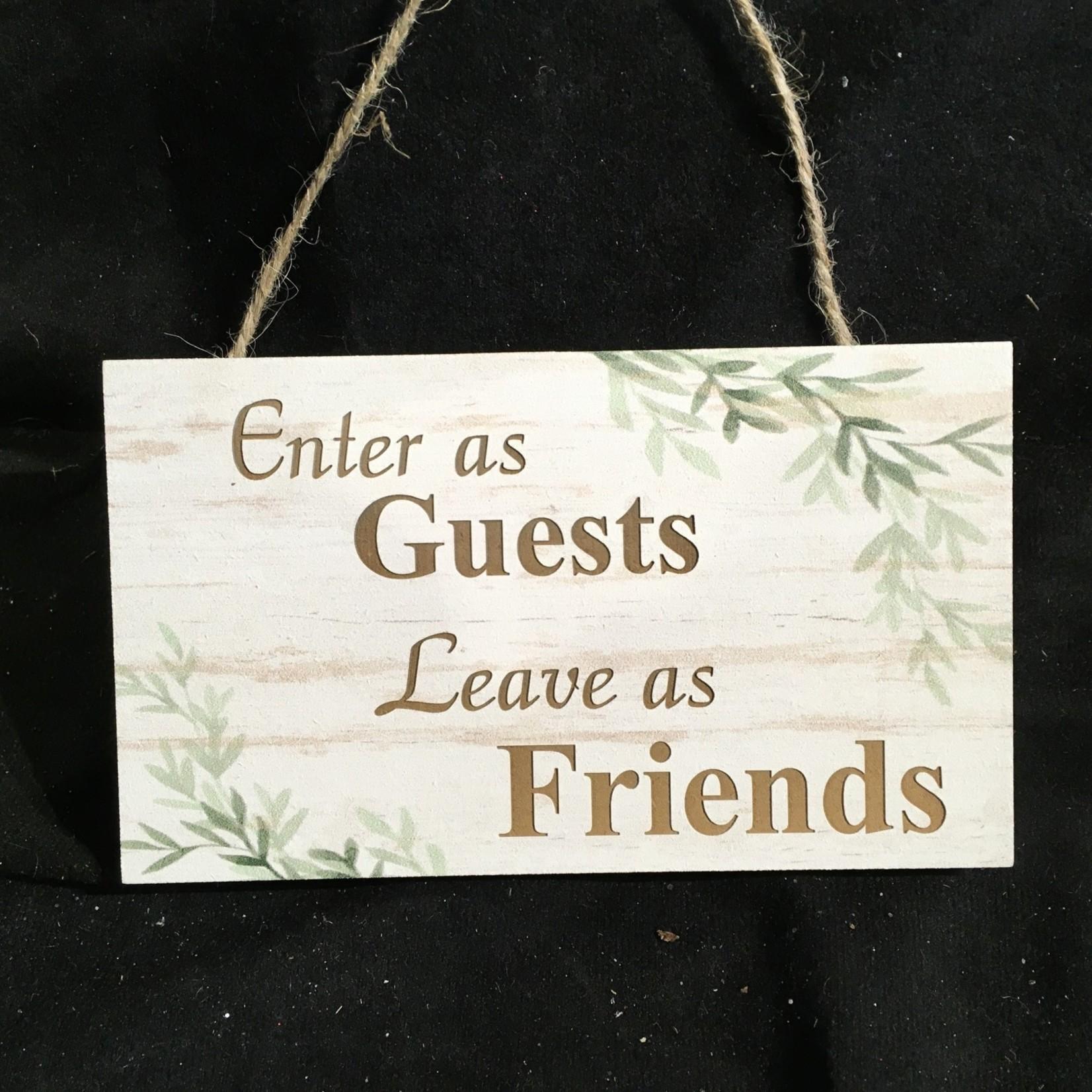 """Hanging Botanical Sign (6x3.5"""")"""