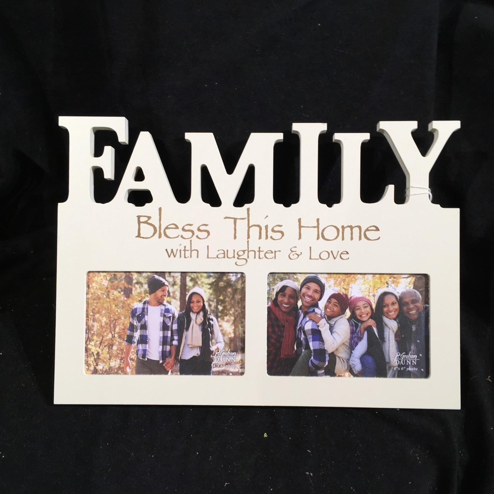 Family Frame - Ivory (2  4x6 Photos)
