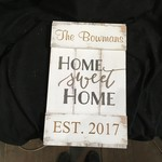 """Home Sweet Home Sign 17x10.5"""""""