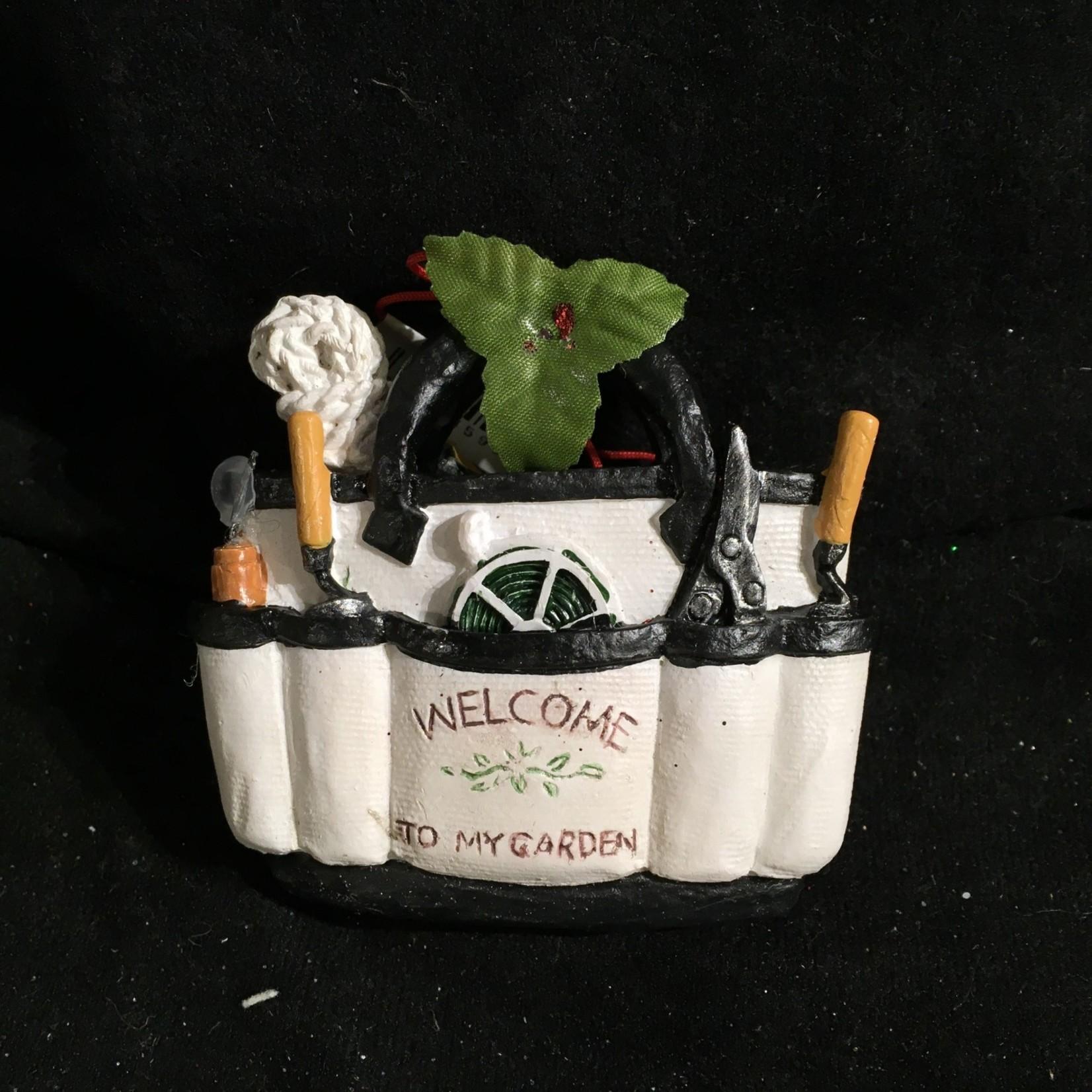 Gardening Bag w/Tools Orn