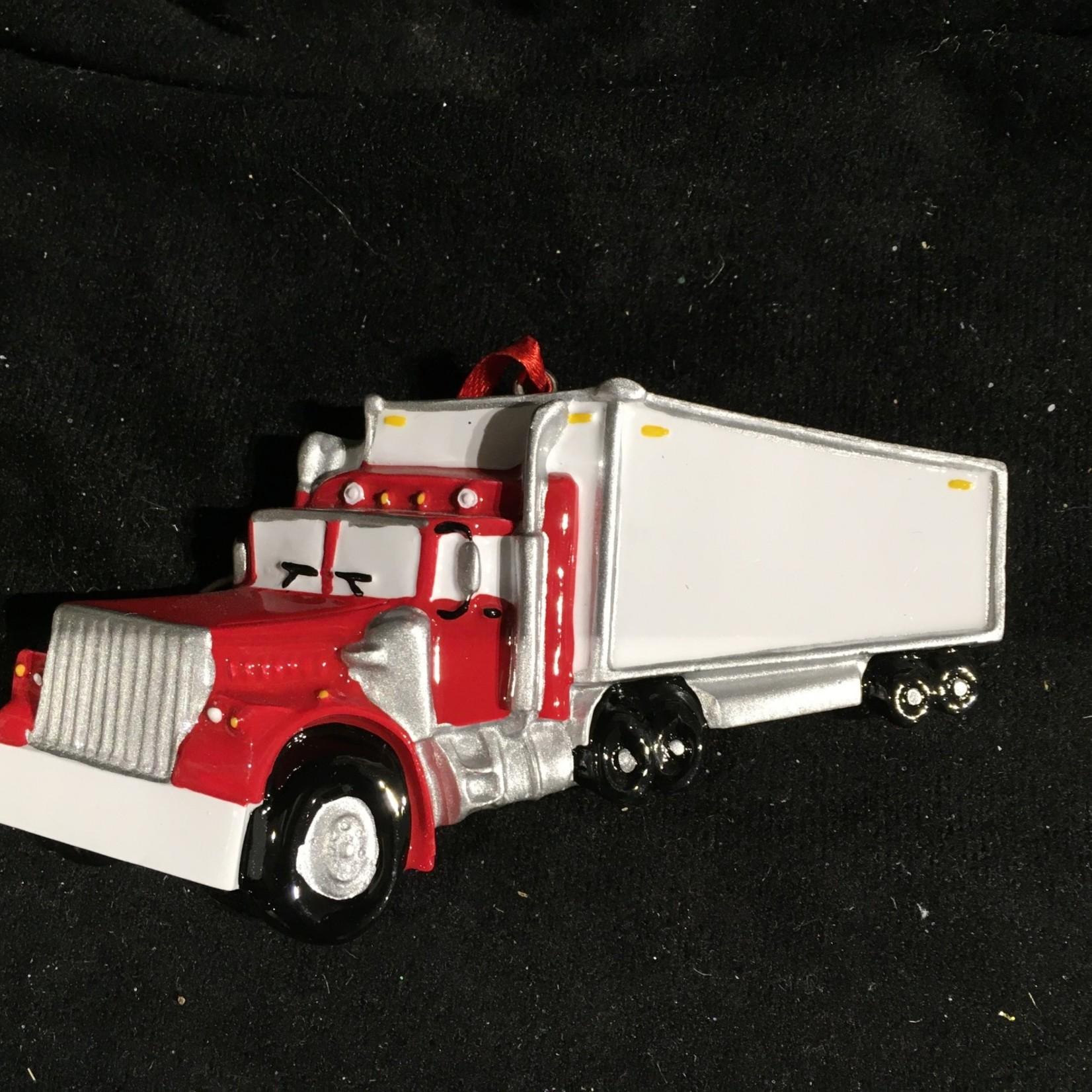 Personalized Semi Truck Orn