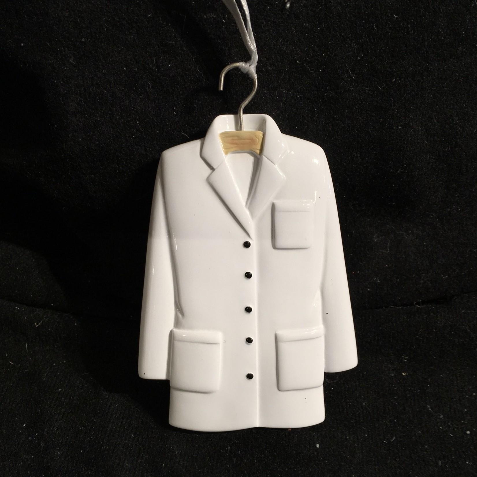White Lab Coat Orn