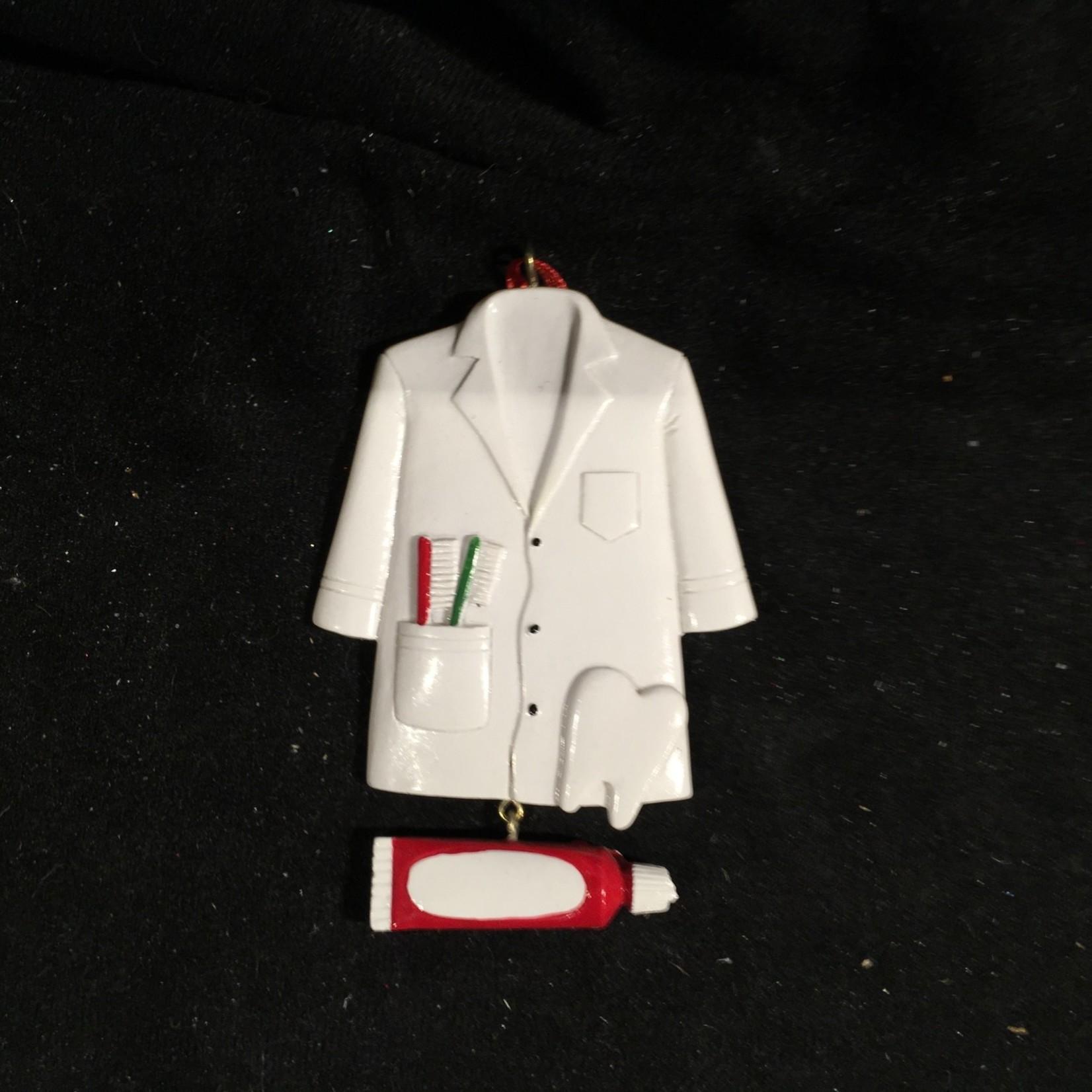 **White Dentist Coat Ornament